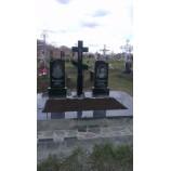 Мемориальный комплекс из креста черный 95х40х8 - Фото
