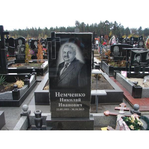 Военные памятники на могилу фото и цены Эконом памятник Башня с профильной резкой Кирсанов