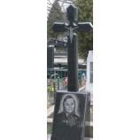 Крест на памятник купить 2 из гранита 90х45х8 №3. - Фото