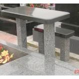 Стол и лавка каменные 115х50х5 - Фото
