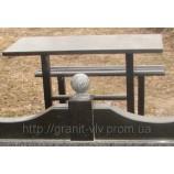 Стол и скамейка 110х50х5 - Фото