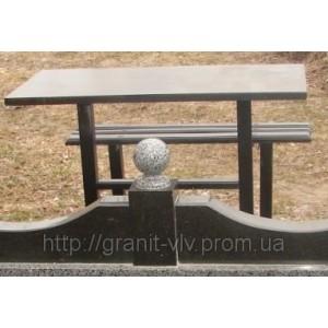 Стол и скамейка 110х50х5
