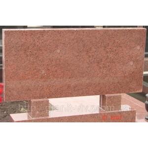 Памятник карьерный Стелла красный 110х60х8