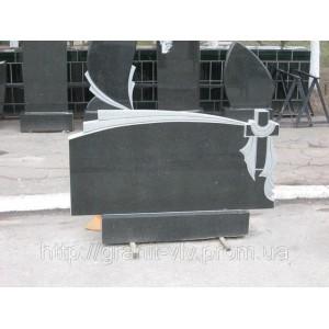 Лесное кладбище Киев  памятник из габбро Стелла-С1 110х50х8