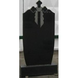 Памятник ритуальный черный Стелла-С4 95х45х8.