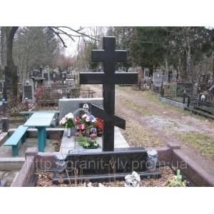 Крест гранитный на могилу 95х45х8 №6