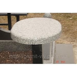 Стол и скамейка гранит 110х60х5