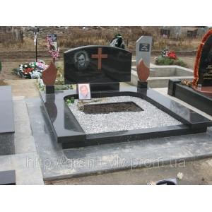 Комплекс с крестом кладбище киева 90х45х8..