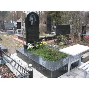 Мемориальный комплекс из креста черный 95х40х8