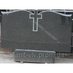 Памятник черный гранитный  Стелла-С12 120х70х8