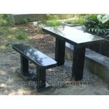 Стол и скамейка 100х50х5. - Фото