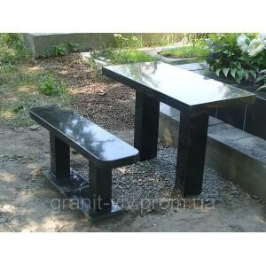 Стол и скамейка 100х50х5.
