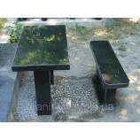 Стол и лавка на кладбище105х50х5. - Фото