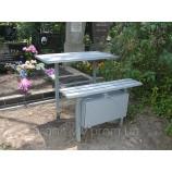 Стол металлический на кладбище 100х55х5... - Фото