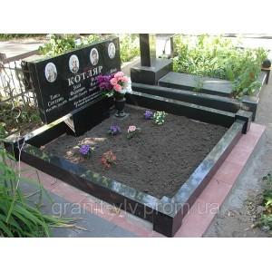 Благоустройство на кладбище намогильных сооружений