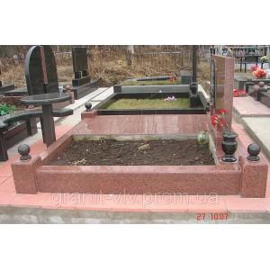 Гранитный цоколь Южное кладбище.