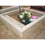 Цоколь бетонный на кладбище - Фото