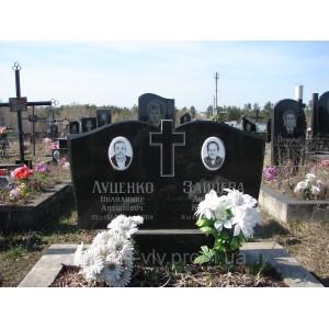 Памятник гранитный черный Стелла-С3 95х45х8