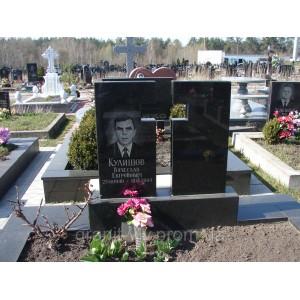 Комплект памятник гранитный Арка 110х60х8