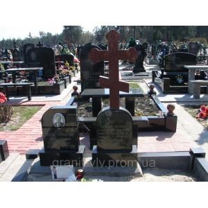 Крест на могилу могильный  95х45х8 №8...