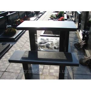 Стол и лавка полированная  105х60х5.