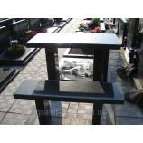 Стол черный  и скамейка черная  105х60х5 - Фото