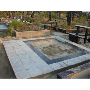 Тротуарная плитка на кладбище