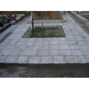 Укладка тротуарной плитки , от мостка на кладбище